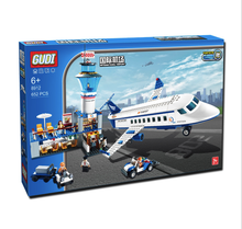 652pc Building Blocks International Airport Plane Aerospace Series Toy Children Birthday Present Intelligence Creative Plaything