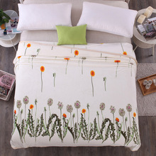 2016 New Winter Dandelion Pattern Super Soft Warm Plush Fleece Blanket On Bed Cover Sheet Kids and Adults Size Cobertor(China)