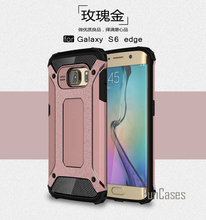Hybrid Hard PC Silicone Case for Samsung S6 Edge Case Slim Armor Anti-Shock Case for Samsung Galaxy S6 Edge Case 5.1 inch