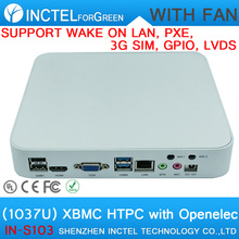C1037U USB3.0 mini pc Support Wake on LAN PXE 3G SIM GPIO LVDS small computer with fan