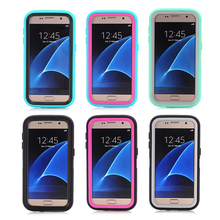 Hot Armour Heavy Mobile Phone Case Anti water dust cellular protective case cover Three-in-one with stand for Samsung S7