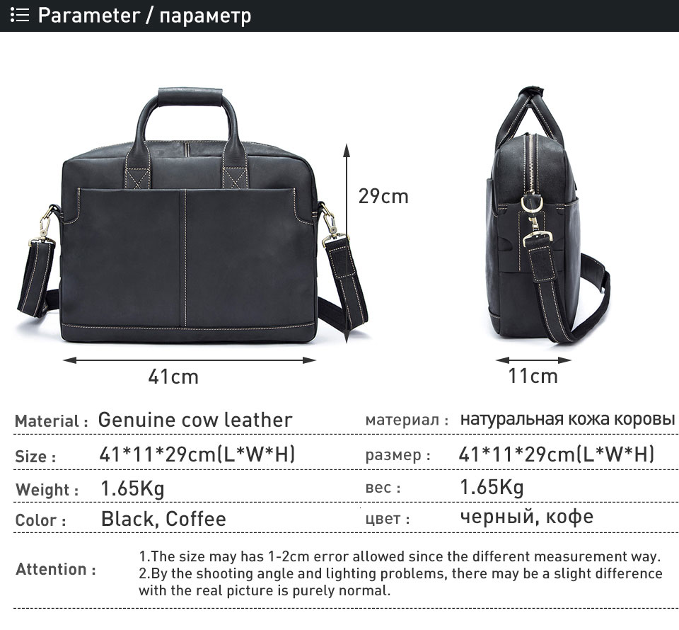1 handbag men genuine leather