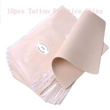 10pcs/lot Permanent Makeup Tattoo Practice Skins Blank Tattoo Practice Fake Skins Best Quality Double Sided For Beginner Artists(China)