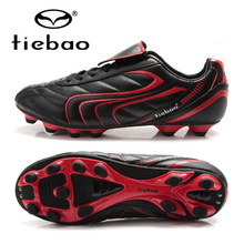 TIEBAO Professional Football Shoes Boots Adult Men Women Soccer Shoes Outdoor Athletic Sports Sneakers AG Soles Soccer Cleats
