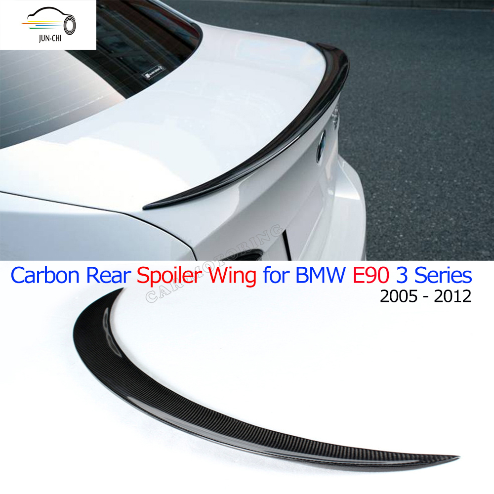 E90 Carbon Fiber Rear Spoiler Wing For BMW E90 3 Ser Sedan 2005 - 2012 Auto Racing Car Styling Tail Trunk Lid Lip Wing Spoiler<br><br>Aliexpress