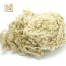 Free shipping Peru alpaca Curly Fiber for Wool Felt Light camel 50g (Needle Felting) especially for Poodle/Bichon and Sheep(China)