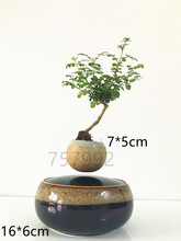 hot gift garden Flower Pots & Planters magnetic levitation air bonsai (no plant)ceramic pot culture 168 free shipping