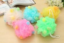 FREE SHIPPING 2pcs soft Shower Sponges Exfoliation Body Puffs Shower Puff Bath Scrubbers Bath Ball(China)