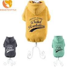3XL Warm Pet Dog Hoodies Clothes Puppy Cat Winter Casual Jacket Printed Letter Coat Clothing For Small Dogs Costumes DOGGYZSYLE(China)