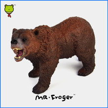 Mr.Froger Brown Bear Model Wild Animal Toys Set Zoo Simulation modeling Forest Solid Plasti Modeling Children Models Animals