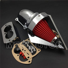For Kawasaki Vulcan 1500 1600 2002-2009 Mean Streak CHROME Cone Spike Air Cleaner(China)