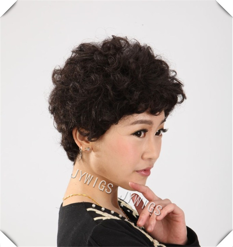 Synthetic Sexy Wig Middle Aged Women MAMA Short Brown Hair   Fast Shipping<br><br>Aliexpress
