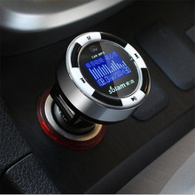 SL600 1.2'' Car MP3 Player Wireless FM Transmitter OLED TF Card Music Player Dual USB Car Charger for iPod iPhone iPad MP3