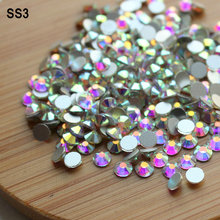 3D Crysal AB Nail art rhinestones,Shiny,glitter and fashion for nail art and clothes etc.(China)