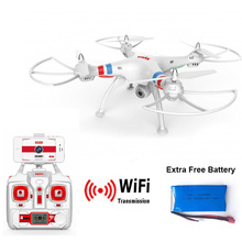 SYMA X8W FPV RC Quadcopter Drone with WIFI Camera 2.4G 4CH 6-Axis RC Helicopter VS X8C MJX X101 YIZHAN X6(China)