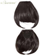 Buy SNOILITE Women Synthetic Clip Bangs Fringe Front Hair Extensions Brown Black Blonde Dark Auburn One piece for $4.15 in AliExpress store