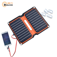 Boguang 10w solar panel cell Solar charger foldable Portable ETFE laminated power bank USB 5v 2A mobile phone tablet charge(China)