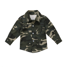 PUDCOCO Newest Hot Newborn Toddler Kids Baby Boys Girls Camo Autumn Shirts Long Sleeve Casual Pop Cool Clothes(China)