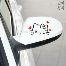 2 x Funny Hello Kitty Car Stickers Love Star Car Decal Rear View Mirror Car Body for Tesla Toyota Ford Volkswagen Kia Lada(China)