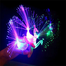 Creative Color Changing Peacock Finger Lamp LED Luminous Light-up Rings Lights Children Toys Nightclub Party Favor Gift