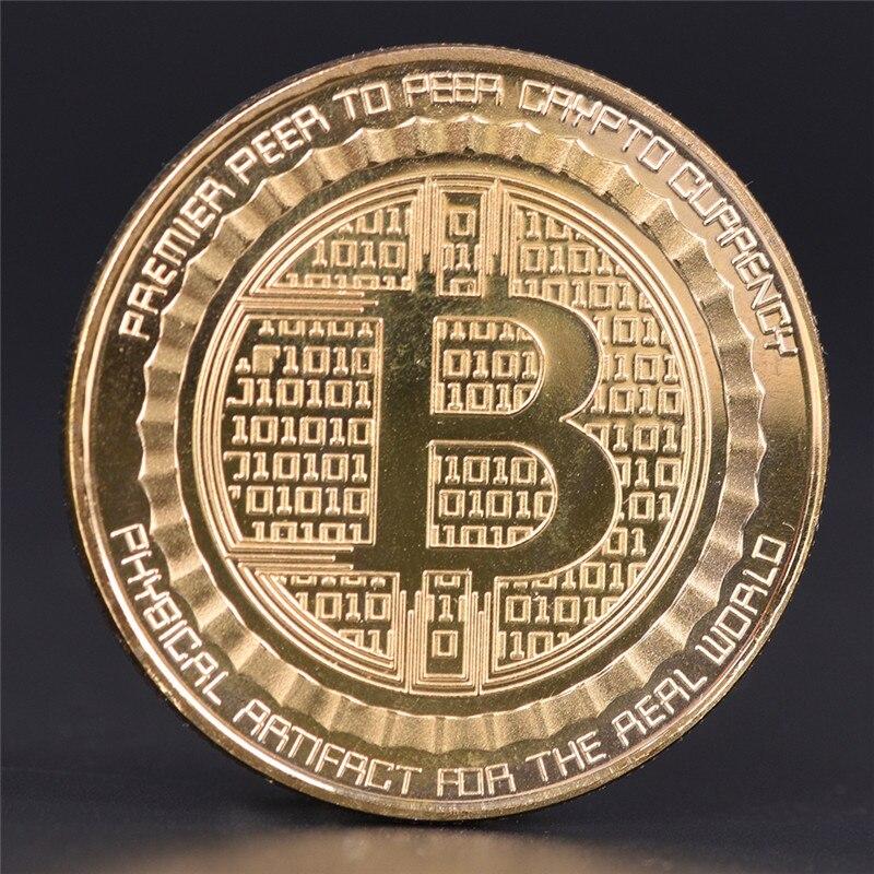 Silver/Gold Plated Bitcoin Coin BTC Coin Collection Art Gift Collection Physical Coin Collection Hot Sale