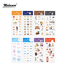 New 15 Style Creative Modern City Life Pvc Cartoon Decoration Stickers Diy Diary Album Sticker Scrapbooking Stationery Stickers(China)