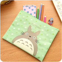 Cute Cartoon Totoro Big Hero Hello Kitty Fabric  Zipper A5 Document Bag File Pocket For School Supplies Stationery