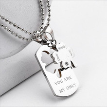 """You Are My Only"" box Clover pendant, necklace couples best friends, healthy and lucky gifts Christmas gifts free shipping"
