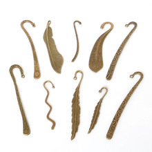 Wholesale 16 pcs Vintage Charms Mixed Bookmark Pendant Antique bronze Fit Bracelets Necklace DIY Metal Jewelry Making(China)