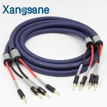 Buy XangSang Audiophile OFC Speaker Cable 2.5m + red copper gold plated banana plugs for $120.00 in AliExpress store