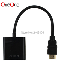 OneOne HDMI Male to VGA RGB Female HDMI to VGA Video Converter adapter HDMI Cable 1080P HDTV Monitor for PC 50pcs/lot(China)