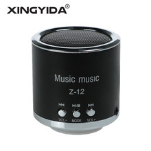 XINGYIDA Mini Radio Speaker Wired Stereo Speakers TF FM USB AUX Music Boombox Metal Bass altavoz for Cell Phone Computer PC