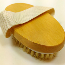 Dry Skin Body Brush Natural Bristle Brush Soft Handle Pouch Brush SPA Brush -15