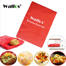 WALFOS 1PC Washable Potato Bag For Microwave Oven Quick Fast (Cooks 4 Potatoes At Once) Steam Pocket In 4 Minutes Easy Cooking(China)