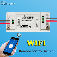 sonoff Smart Home Automation Module Wifi Switch Universal Timer Diy Wireless Switch Remote Controller Via IOS Android 10A/2200W
