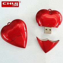 CHYI New Arrival Creative USB Flash Drive Pen Drive Shinning Heart Memory Stick 4/8/16/32/64GB Pendrive For Valentine's Day Gift