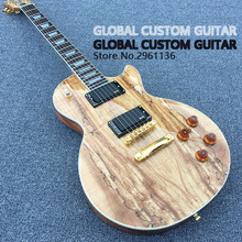 In stock!!!Limited-time offers,Electric guitar Hot Sale Les LP Map panel transparent brown Paul Custom Electric Guitar 6 Strings