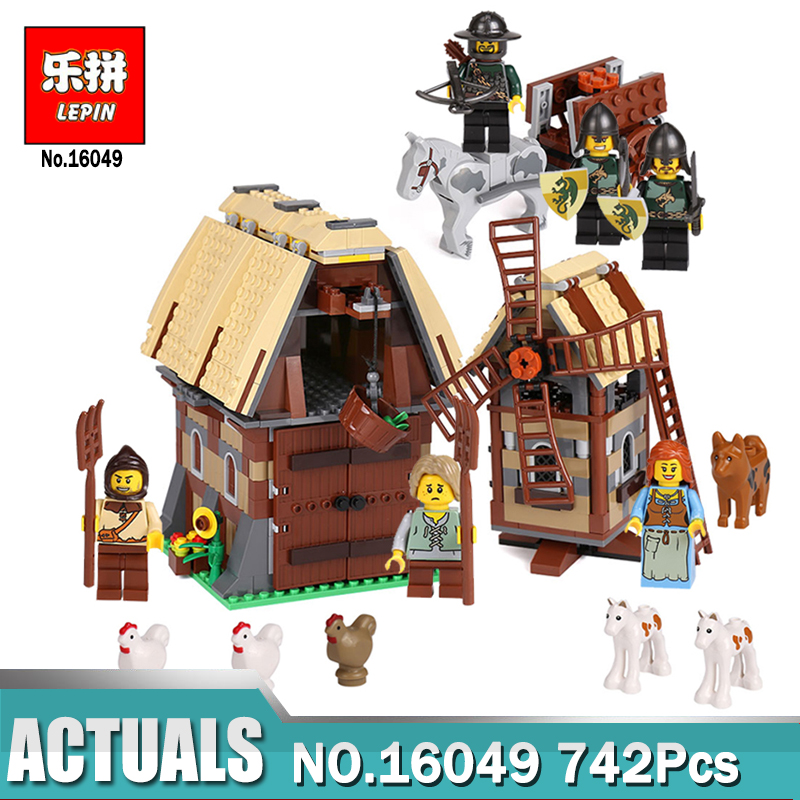 Lepin 16049 Creative Bricks Toy The Mill Village Raid Set Educational Building Blocks Kits compatible Legoing 7189 Toys As Gift <br>