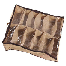 12 Grid Non-Woven Fabric Transparent Shoebox Dustproof Moisture Resistant Clothing Organizer
