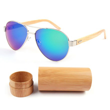 2017 New Hand Made Men Bamboo Sunglasses Outside Sunglass Women men Brand Designer Wood Glasses High Quality Unisex Oculo De Sol(China)