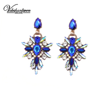 Vodeshanliwen good quality Vintage Crystal Earrings Starburst earring for women wedding Accessory New Arrival fashion Jewelry