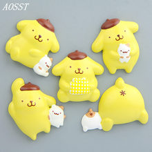 (AOSST)Purin POP Anime Creative stereo Resin Diy Doll toys Refrigerator magnet Car decoration Christmas Gifts For Children(China)
