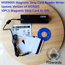 latest MSR900s update version of MSR900 msr605 Magnetic Strip Card Reader Writer 3-Track Hi-Co with cd sdk and 10pcs test card