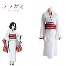 Nora Kimono Cosplay Noragami CostumeFancy Clothing Costume With Bow Girdle Hair Accessory Popular Women Adults Costume(China)