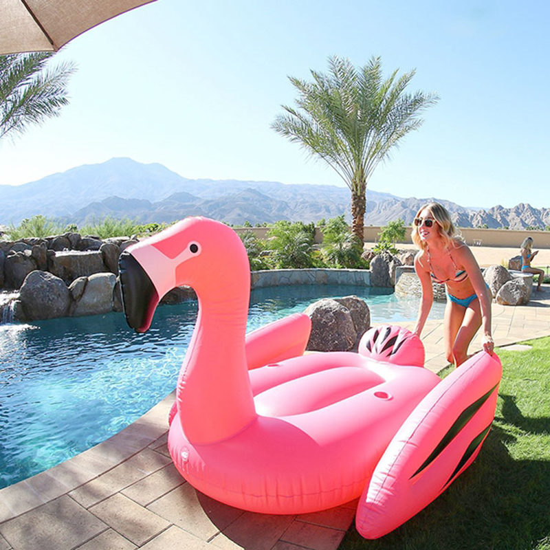 Inflatable-Flamingo-Swimming-Pool-Float-Giant-190cm-Ride-on-White-Swan-Swimming-Lounge-Summer-Holiday-Beach (2)