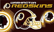 Washington Redskins logo with stars and stripes from USA Flag. 3FTx5FT 100D Polyester Flag Flag 90x150 cm