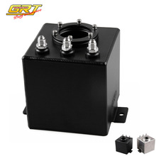 GRT - Universal BLACK OR SILVER 2L Aluminium Oil Catch Tank/Fuel Cell/Fuel Tank with AN6
