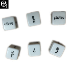 EJMW Russian Dice Russian Sex Dice Sex Toys For Couples Acrylic Erotic Toys Adult Sex Toys For Women Men Russian ELDJ47(China)