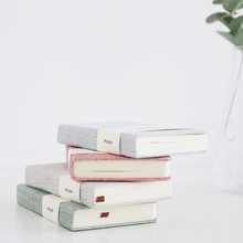 A6 Simple pure color cloth hand books Blank pages related to the horizontal notebook A5 stationery diary book(China)