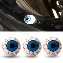4Pcs/Lot Creative Eye Ball Pattern Auto Wheel Valve Air Stem Cap Cover Bike Accessories Tire Screw Dust Plug for Car Truck